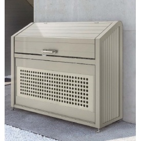 四国化成 ゴミストッカー PS型 スリムタイプ 奥行700用 GPS-1814-07SC(基本セット) 『ゴミ袋(45L)集積目安 26袋、世帯数目安 13世帯』 『ゴミ収集庫』『ダストボックス ゴミステーション 屋外』 ステンカラー