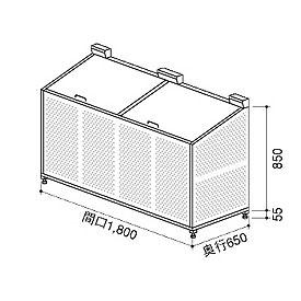 ビニトップ クリーンエース BPL-1807型 『ゴミ袋(45L)集積目安 21袋、世帯数目安 11世帯』 『ゴミ収集庫』 シルバー