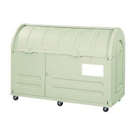 アロン化成 ステーションボックス #800C(キャスター仕様) 『ゴミ袋(45L)集積目安 17袋、世帯数目安 8世帯』 『ゴミ収集庫』 ウォームグレー