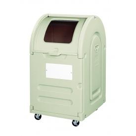 アロン化成 ステーションボックス透明 #300C(キャスター仕様) 『ゴミ袋(45L)集積目安 6袋、世帯数目安 3世帯』 『ゴミ収集庫』 ウォームグレー