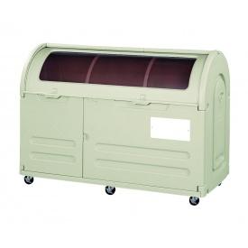 アロン化成 ステーションボックス透明 #800C(キャスター仕様) 『ゴミ袋(45L)集積目安 17袋、世帯数目安 8世帯』 『ゴミ収集庫』 ウォームグレー