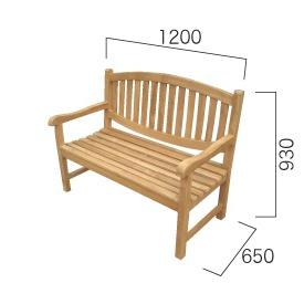 大放出セール 送料無料 ジャービス商事 天然チーク材の温かみ 無塗装 ガーデンベンチ ファクトリーアウトレット オファルベンチ