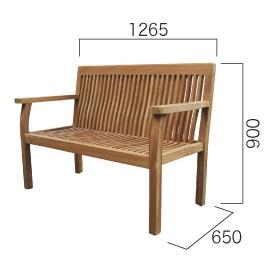 ジャービス商事 パブリックベンチ 『ガーデンベンチ』 無塗装