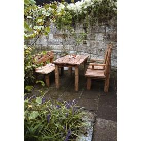 ジャービス商事 流木テーブル 4点セット 『ガーデンテーブルセット』 無塗装