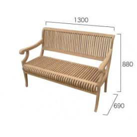 ジャービス商事 カステルベンチ 『ガーデンベンチ』 無塗装