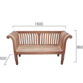 ジャービス商事 グランドベンチ 『ガーデンベンチ』 無塗装