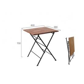 ジャービス商事 折り畳みアイアンチークテーブル 『ガーデンテーブル』 無塗装