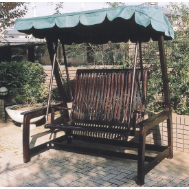 ジャービス商事 デラックススイングラブベンチ 『ガーデンベンチ』 ダークブラウン