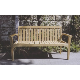 送料無料 ジャービス商事 受注生産品 天然チーク材の温かみ 無塗装 ガーデンベンチ 新着セール スタッキングベンチ