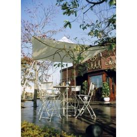 ジャービス商事 アンブレラ付ハイテーブル 『ガーデンテーブル』 クリーム