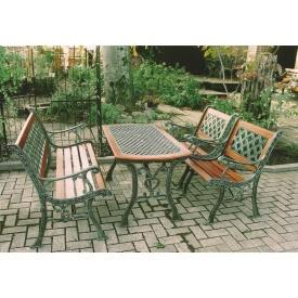 ジャービス商事 鋳鉄テーブル 4点セット 『ガーデンテーブルセット』 青銅色