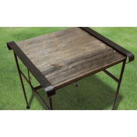オンリーワン アイアン+バーンウッドテーブル(小) 『ガーデンテーブル』
