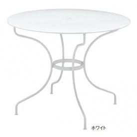 ユニソン フェルモブ オペラテーブル960 『ガーデンテーブル』 ホワイト