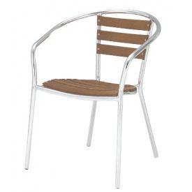 【在庫無くなり次第終了】 ユニソン テーブル&チェア アルミアームチェア 『ガーデンチェア』 チーク