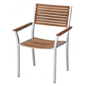 送料無料【ユニソン】上質な素材感が、ガーデンに個性をプラス。 ユニソン テーブル&チェア アルテックアームチェア 『ガーデンチェア』