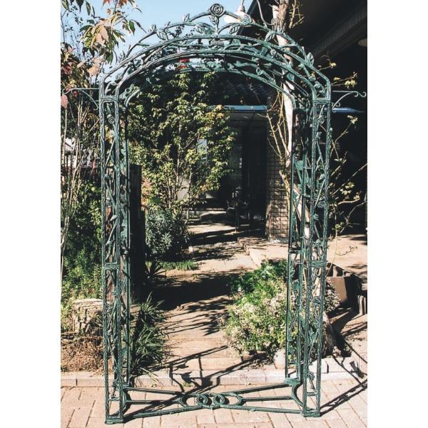 ジャービス商事 ガーデンアーチ・ローズ型 13030 青銅色