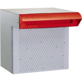 ハッピー金属 ステンレスポスト ファミール676-R (差入口・受箱一体型タイプ) 『郵便ポスト』 赤