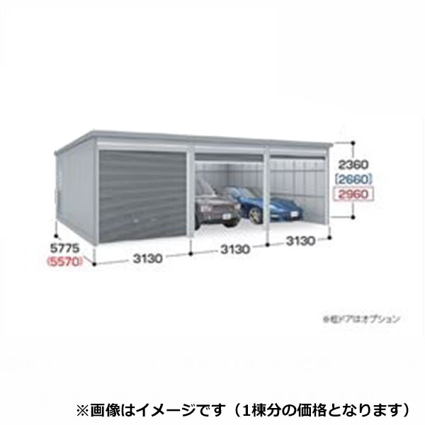 『配送は関東・東海限定』 イナバ物置 ガレーディア GRN-3157SL(基本棟) 豪雪地型 『シャッター車庫 ガレージ』