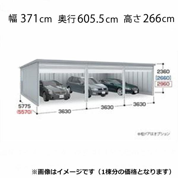 『配送は関東・東海限定』 イナバ物置 ガレーディア GRN-3657HL(基本棟) 豪雪地型 『シャッター車庫 ガレージ』