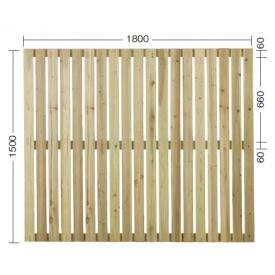 『欠品中』タカショー e-ウッドパネル13型 (板塀)H1500 『緑化 天然木フェンス 柵』 無塗装(少し緑がかった色です)