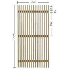 『欠品中』タカショー e-ウッドパネル13型 (板塀) H1800 『緑化 天然木フェンス 柵』 別注塗装済み(ホワイト以外)