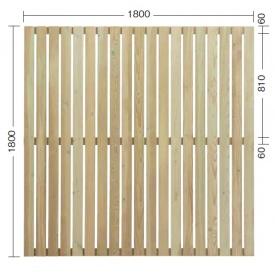 『欠品中』タカショー e-ウッドパネル13型 (板塀) H1800 『緑化 天然木フェンス 柵』 別注塗装済み(ホワイト)