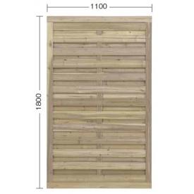 『欠品中』タカショー e-ウッドパネル4型 W11 (やまと横型) 『緑化 天然木フェンス 柵』 別注塗装済み(ホワイト)