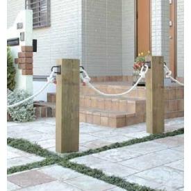 『欠品中』タカショー e-ウッドロープフェンス アルミ芯仕様 『木調フェンス 柵』 別注塗装済み(ホワイト)