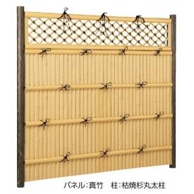 タカショー e-バンブーユニット 格子垣 H1800 パネル(片面) *柱は別売です 『竹垣フェンス 柵』 真竹