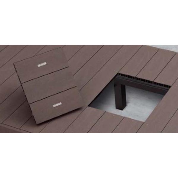 YKKAP リウッドデッキ200用 点検口 本体大引利用タイプ ウッドデッキ オプション 部材 材料 人工木 樹脂 diy