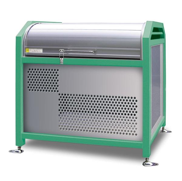アルミック ミックストッカー 900タイプ 『ゴミ収集庫』『ダストボックス ゴミステーション 屋外』『ゴミ袋(45L)集積目安 8袋、世帯数目安 4世帯』『完成品で届けるのですぐに使用可能』 エメラルド