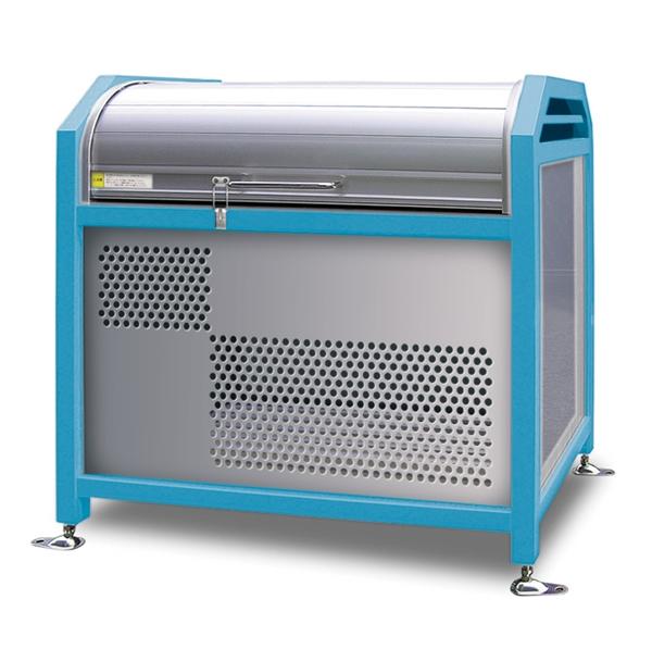 アルミック ミックストッカー 900タイプ 『ゴミ収集庫』『ダストボックス ゴミステーション 屋外』『ゴミ袋(45L)集積目安 8袋、世帯数目安 4世帯』『完成品で届けるのですぐに使用可能』 ブルー
