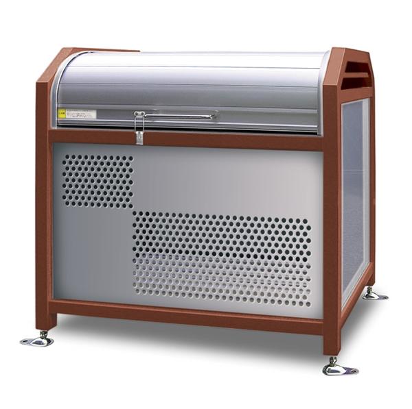 アルミック ミックストッカー 900タイプ 『ゴミ収集庫』『ダストボックス ゴミステーション 屋外』『ゴミ袋(45L)集積目安 8袋、世帯数目安 4世帯』『完成品で届けるのですぐに使用可能』 チョコレート
