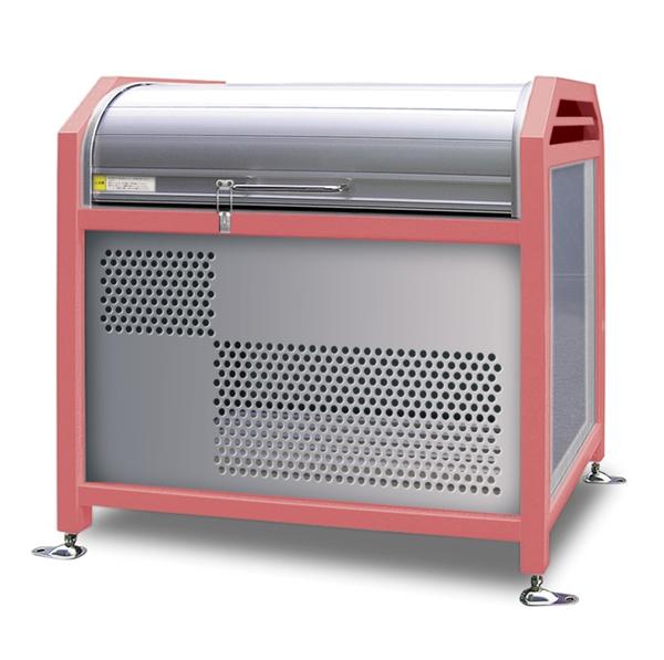 アルミック ミックストッカー 900タイプ 『ゴミ収集庫』『ダストボックス ゴミステーション 屋外』『ゴミ袋(45L)集積目安 8袋、世帯数目安 4世帯』『完成品で届けるのですぐに使用可能』 ピンク