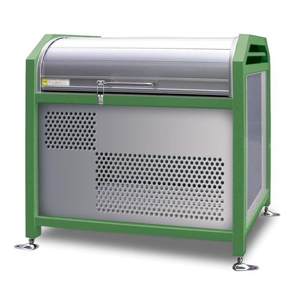 アルミック ミックストッカー 1500タイプ 『ゴミ収集庫』『ダストボックス ゴミステーション 屋外』『ゴミ袋(45L)集積目安 15袋、世帯数目安 8世帯』『完成品で届けるのですぐに使用可能』 グリーン