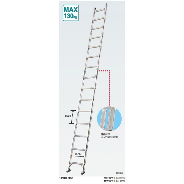 ピカコーポレイション 連結はしごプロ1PRO-R 1PRO-R61 350101