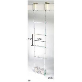 ピカコーポレイション 避難用鋼製折りたたみはしご ES-63