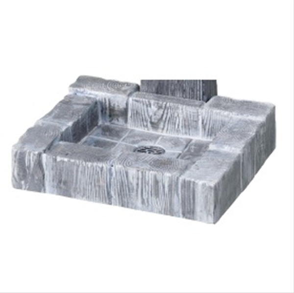 ニッコー ランバーパン 『水栓柱・立水栓 水受け(パン) ニッコーエクステリア』 ラスティーブルー
