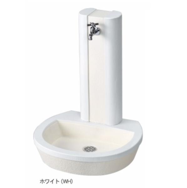 ニッコー 立水栓ユニット フォレット(パンとセットです) 『水栓柱・立水栓セット 水受け付き(蛇口は別売) ニッコーエクステリア』 ホワイト