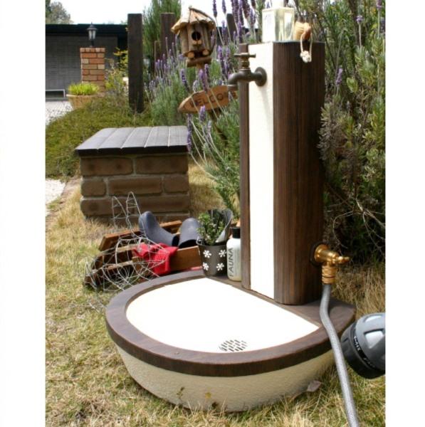 ニッコー 立水栓ユニット フォレット 補助蛇口仕様 『補助蛇口は別売です・パンとセットです ニッコーエクステリア』 ブラウン