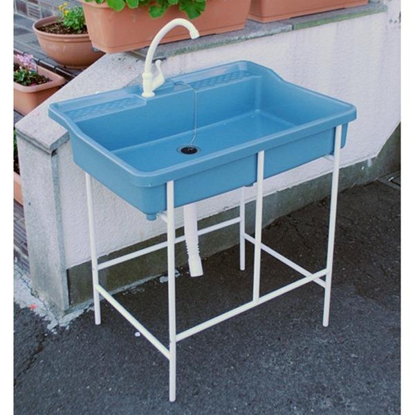 アオヤギコーポレーション ポリプロピレン製簡易流し台(蛇口付) AP-751 『ガーデン 流し台』