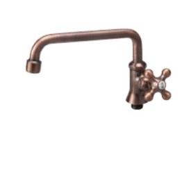 ニッコー 水栓蛇口ブロンズ口ングアーム ODF-S9 『ガーデン 流し台 ニッコーエクステリア』