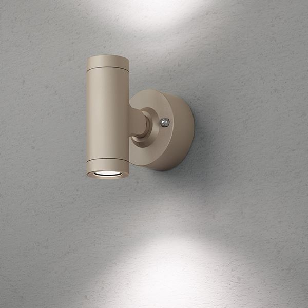 タカショー エクスレッズ スポットウォールライト 2型(LED色:白色)HBA-W07G 12V用 #73030800 『ローボルトライト』 『エクステリア照明 ライト』 グレイッシュ ゴールド
