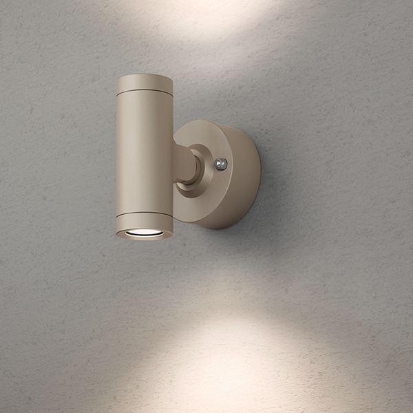 タカショー エクスレッズ スポットウォールライト 2型(LED色:電球色)HBA-D07G 12V用 #73024700 『ローボルトライト』 『エクステリア照明 ライト』 グレイッシュ ゴールド