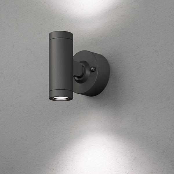 タカショー エクスレッズ スポットウォールライト 2型(LED色:白色)HBA-W07K 12V用 #73031500 『ローボルトライト』 『エクステリア照明 ライト』 ブラック