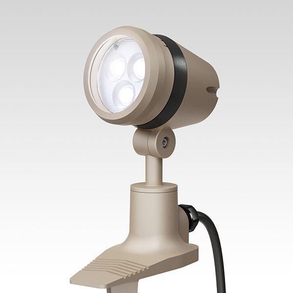 タカショー De-SPOT 調光リング100V 狭角(LED色:白色)5mプラグ付 HFE-W19G #49135300 『100V用 スポットライト』 『エクステリア照明 ライト』 グレイッ シュ ゴールド