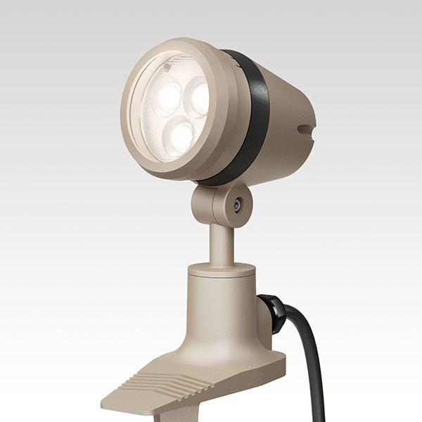 タカショー De-SPOT 調光リング100V 狭角(LED色:電球色)10mプラグ無 HFE-D20G #49128500 『100V用 スポットライト』 『エクステリア照明 ライト』 グレイッ シュ ゴールド