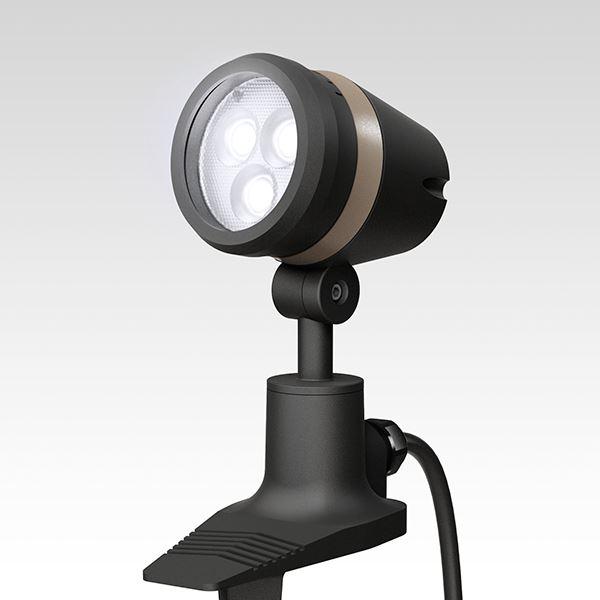 タカショー De-SPOT 調光リング100V 狭角(LED色:白色)10mプラグ無 HFE-W16K #49132200 『100V用 スポットライト』 『エクステリア照明 ライト』 ブラック