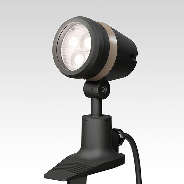 タカショー De-SPOT 調光リング100V 狭角(LED色:電球色)10mプラグ無 HFE-D16K #49123000 『100V用 スポットライト』 『エクステリア照明 ライト』 ブラック