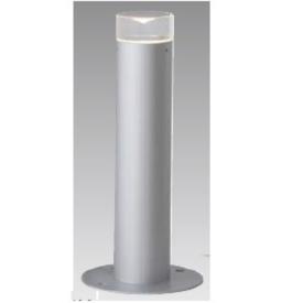 タカショー スタイルポールライト 12型(LED色:電球色)HFD-D32S 100V用 『エクステリア照明 ライト』 シルバー